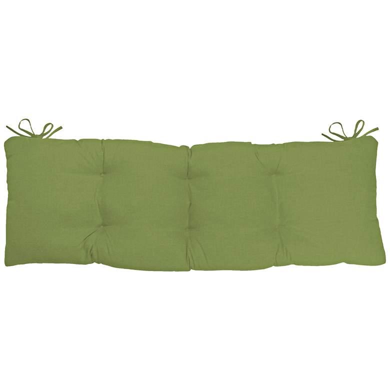 """Sunbrella Kali Canvas Ginkgo 45"""" Wide Tufted Bench Cushion"""