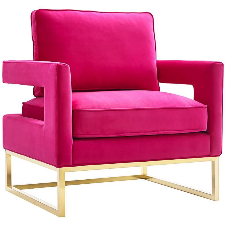 Avery Pink Velvet Accent Chair