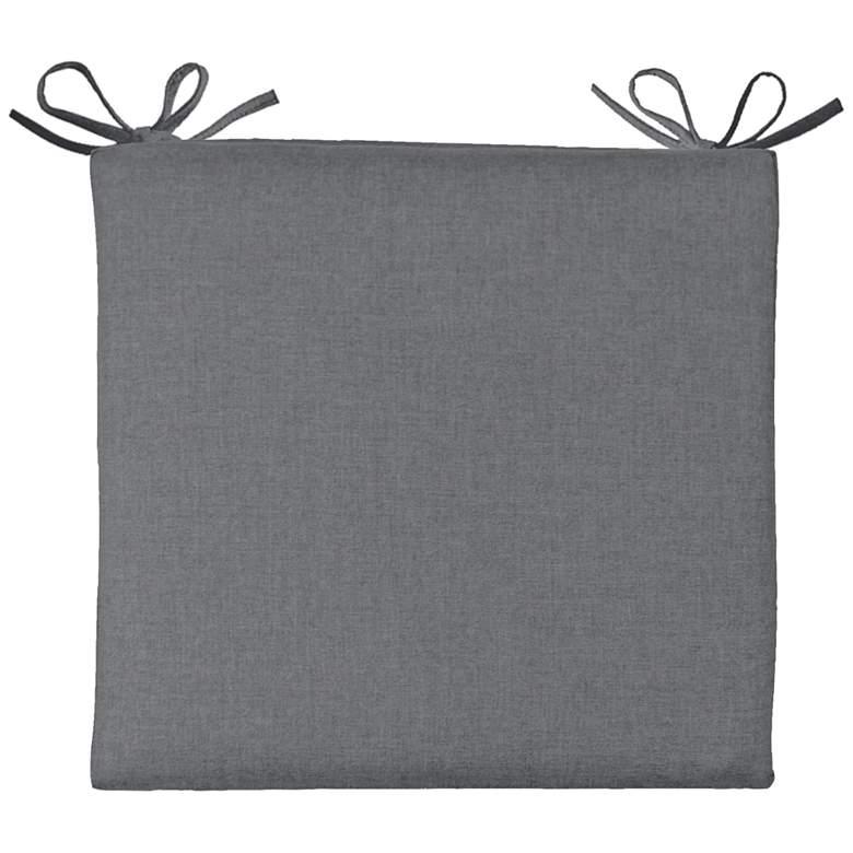 "Sunbrella Parma Cast Slate 19"" Wide Chair Cushion"