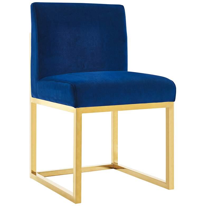 Haute Navy Velvet Accent Chair