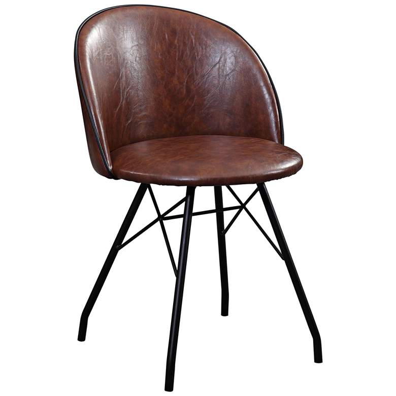 Branson Deep Coffee Eco Leather Swivel Accent Chair