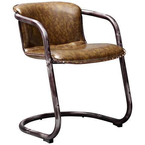 Colt Cognac Eco Leather Armchair