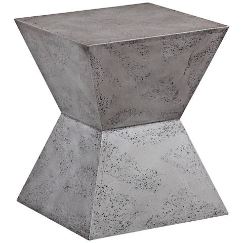 Everly Concrete Square Accent Stool