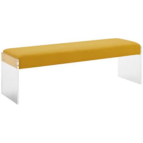 Sunshine Pebbled Velvet Rectangular Bench