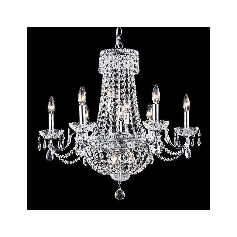 "James Moder Imperial 25""W Silver 12-Light Empire Chandelier"