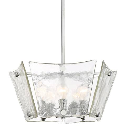 "Quoizel Glaze 23 1/2"" Wide Polished Chrome Pendant Light"