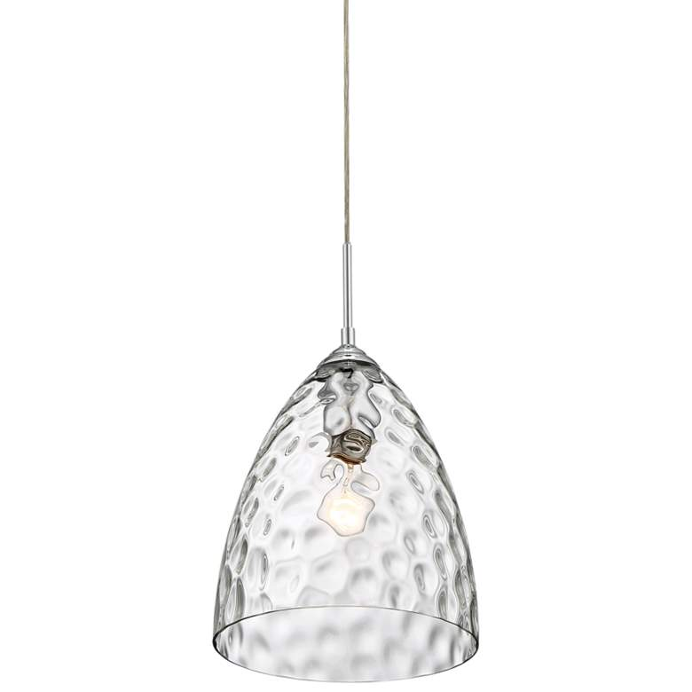"Quoizel Waterfall 10 1/4"" Wide Polished Chrome Mini Pendant"