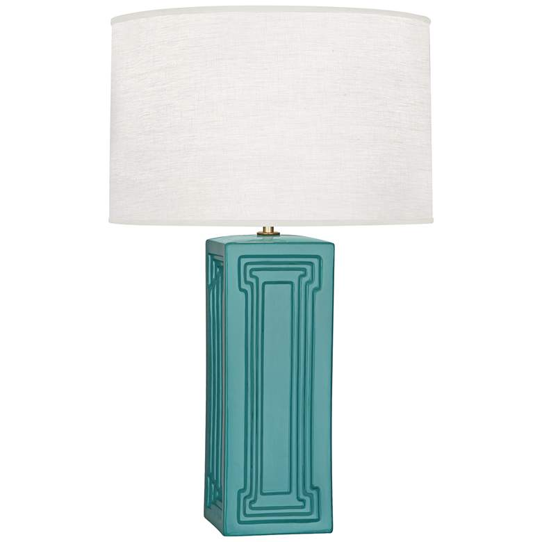 Nottingham Mayo Teal Ceramic Table Lamp