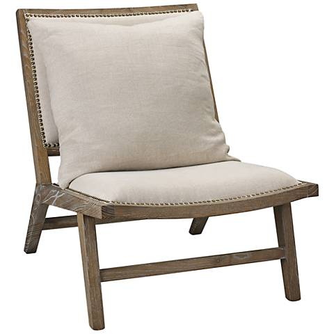 Jamie Young Baldwin Driftwood Washed Gray Accent Chair