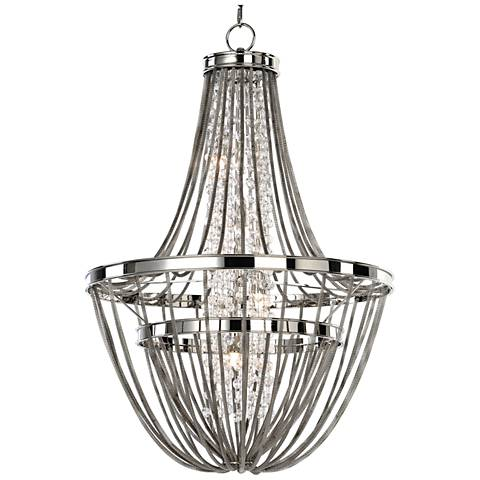 "Uttermost Couler 20"" Wide Polished Nickel 4-Light Chandelier"
