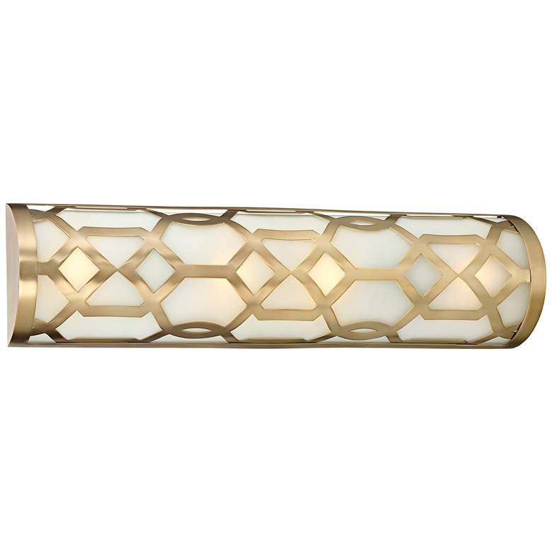 "Crystorama Jennings 24"" Wide Aged Brass LED Bath"