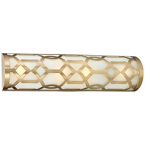 "Crystorama Jennings 24"" Wide Aged Brass LED Bath Light"