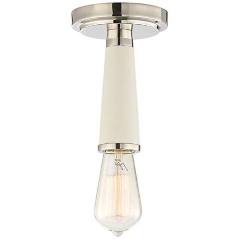 "Crystorama Zodiac 4 3/4"" Wide Polished Nickel Ceiling Light"
