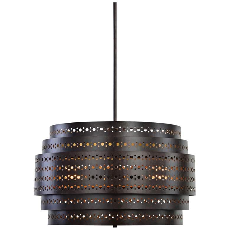 """Uttermost Fuller 22"""" Wide Dark Bronze Chandelier"""