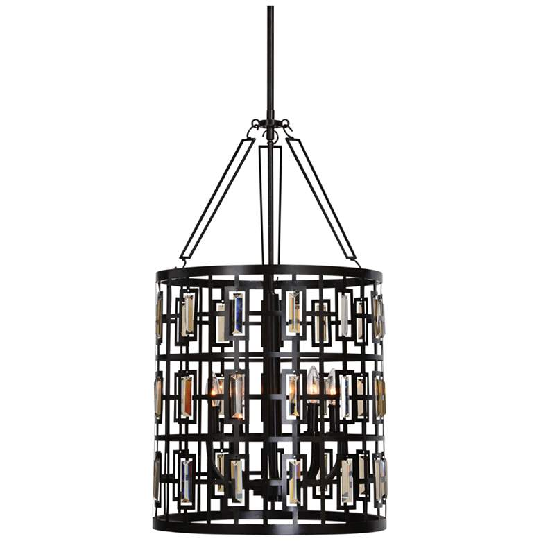 "Uttermost Rhombus 17 3/4""W Weathered Bronze 5-Light Pendant"