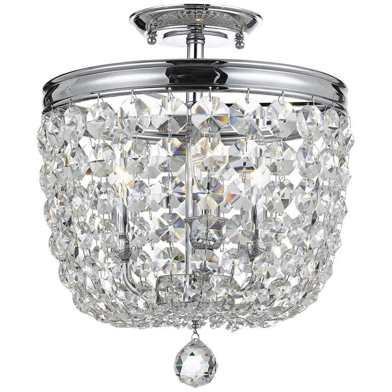 "Archer 11 1/2"" Wide Chrome Swarovski Crystal Ceiling Light"