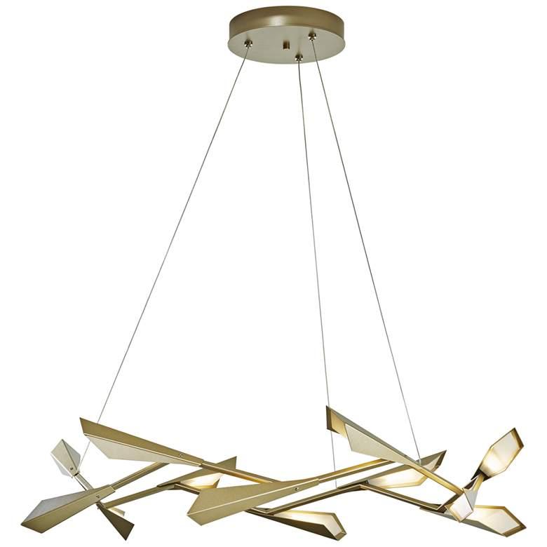 "Quill 45 1/4"" Wide Platinum LED Kitchen Island Light Pendant"