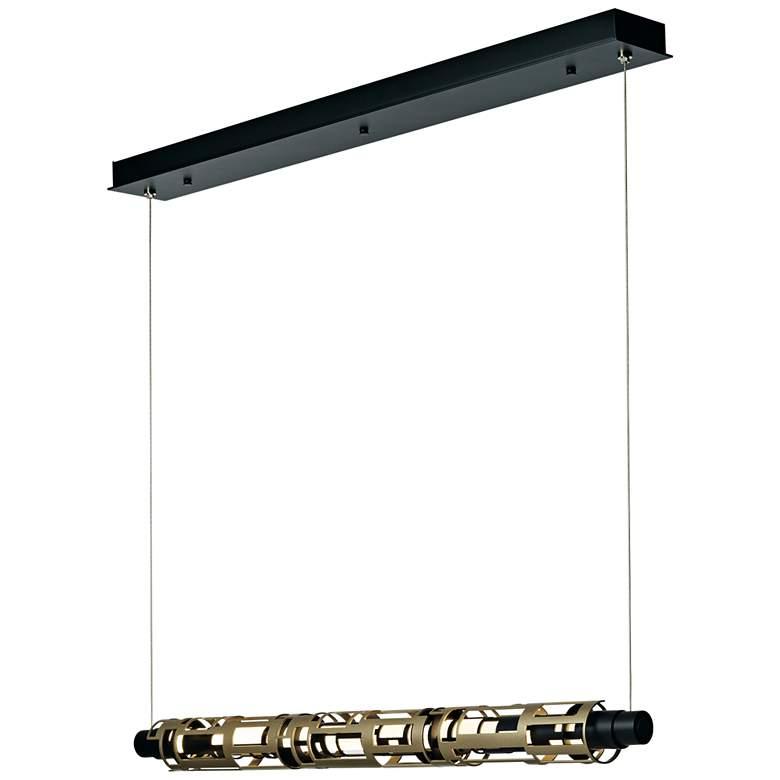 "Transom 38 1/2"" Wide Black LED Kitchen Island Light Pendant"