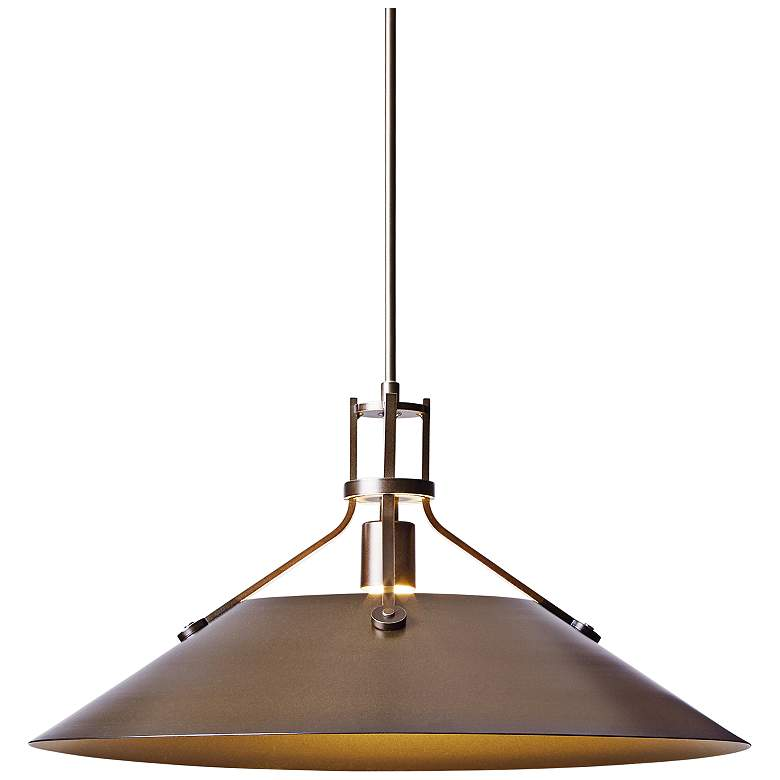 """Hubbardton Forge Henry 11"""" High Bronze Outdoor Hanging Light"""