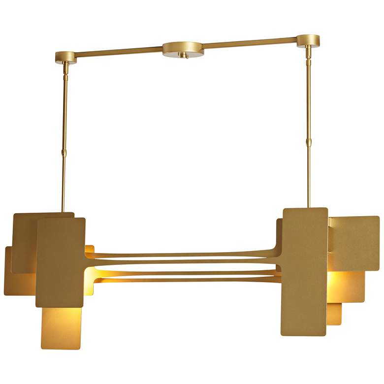 "Stretch 49 3/4"" Wide Gold Kitchen Island Light Pendant"