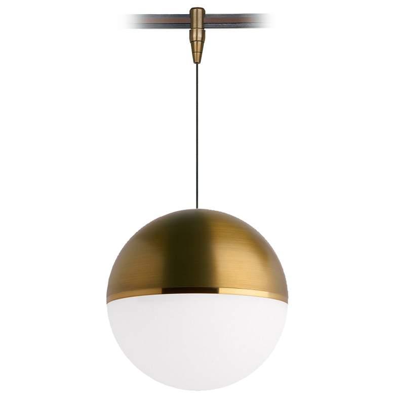 "Tech Lighting Akova 7""W Aged Brass LED Monorail Mini Pendant"