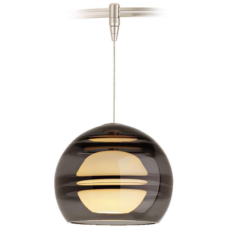 "Sedona 6"" Wide Satin Nickel LED Monorail Mini Pendant"