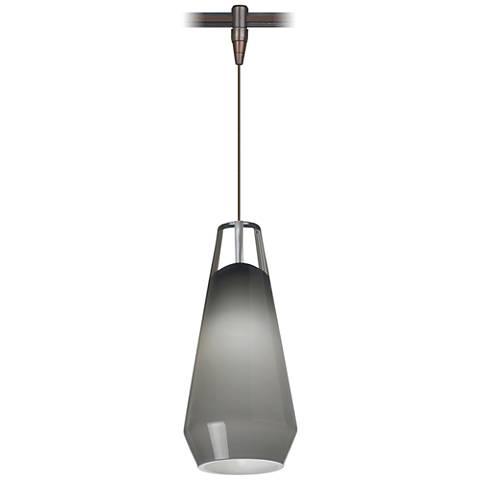 "Lustra 3 3/4"" Wide Antique Bronze LED Monorail Mini Pendant"
