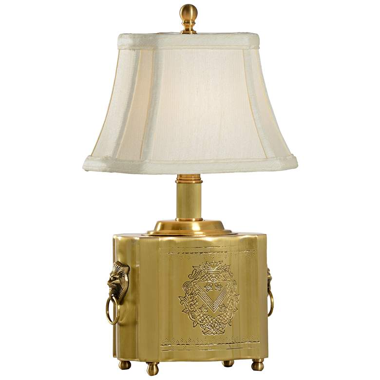 Wildwood Tea Box Antique Patina Solid Brass Table Lamp