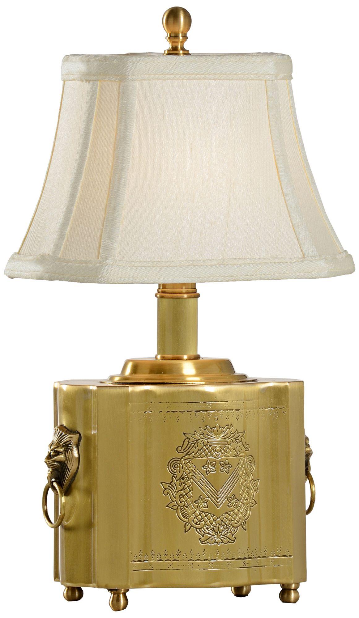 Wildwood Tea Box Antique Patina Solid Brass Table Lamp
