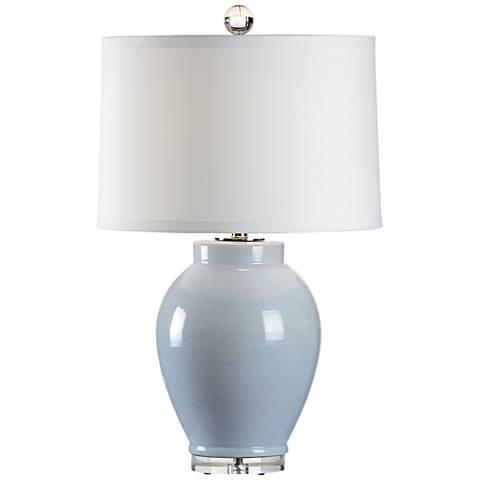 Wildwood Capri Cloud Blue Crackle Glaze Ceramic Table Lamp