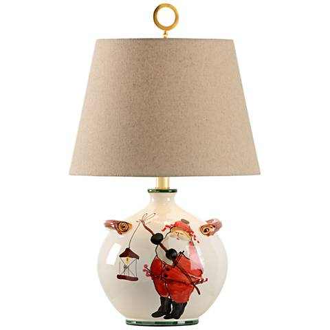 Wildwood St. Nick Hand-Painted Ceramic Table Lamp