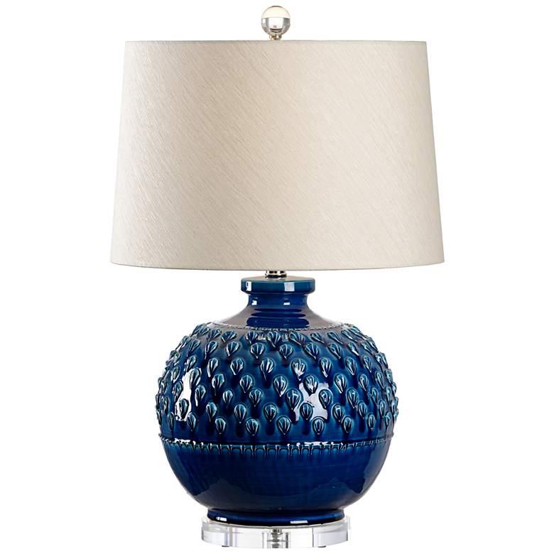 Wildwood Carlotta Indigo Glaze Ceramic Table Lamp