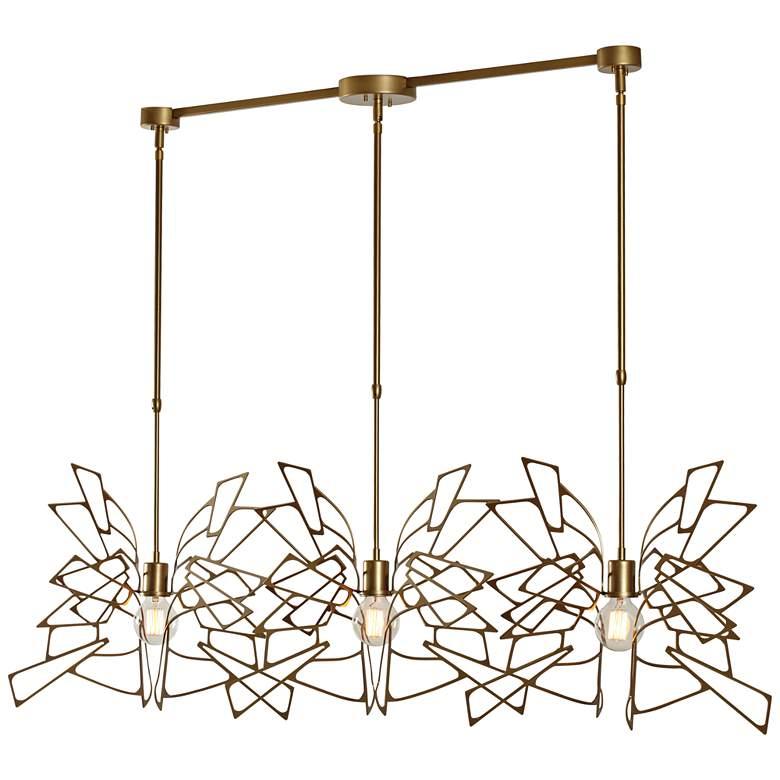 "Vermont Modern Monarch 57 3/4"" Wide 3-Light Gold Pendant"
