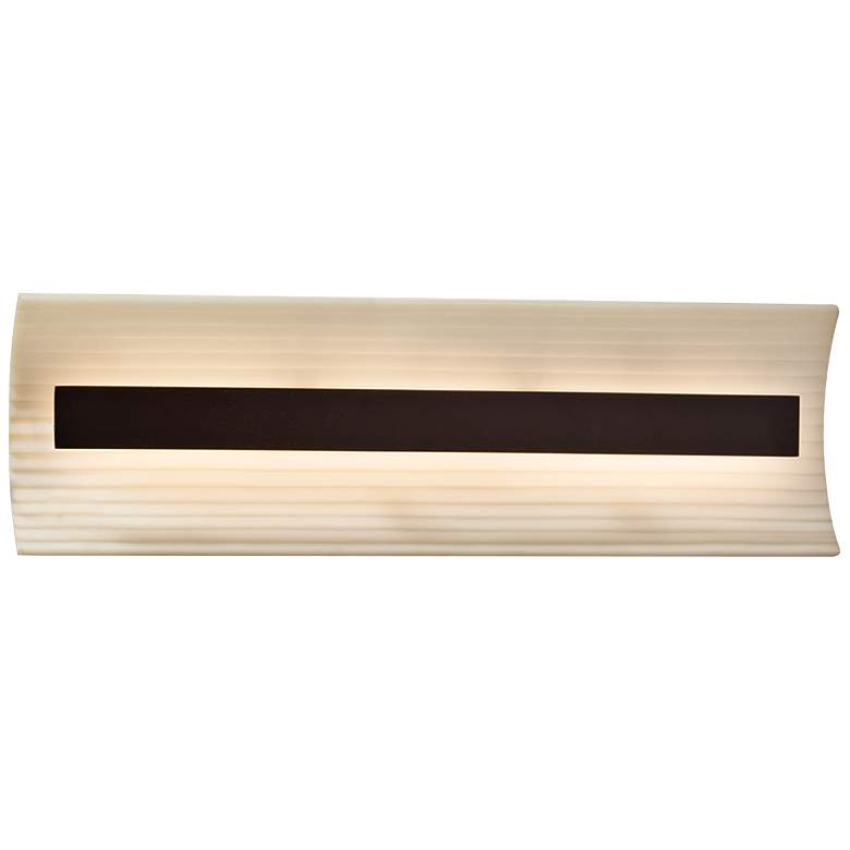 "Porcelina™ Contour 21"" Wide Dark Bronze LED Bath Light"