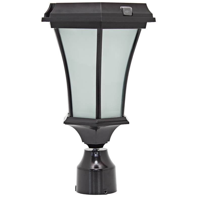 Bergan Solar Powered LED Outdoor Post Light in