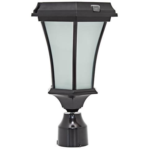 Bergan Solar Powered LED Outdoor Post Light in Black
