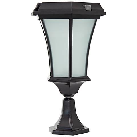 Black 15 high solar led outdoor pier light with mount 20x01 black 15 high solar led outdoor pier light with mount aloadofball Gallery