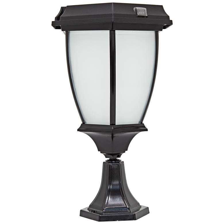 """Carriage-Style 15"""" High Pier Mount LED Outdoor Solar"""