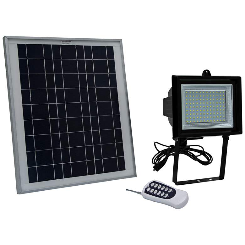 Black LED Flood Light with Remote Control