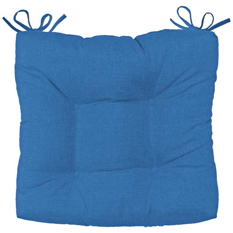 "Palmdale Canvas Capri 19"" Wide Tufted Chair Cushion"