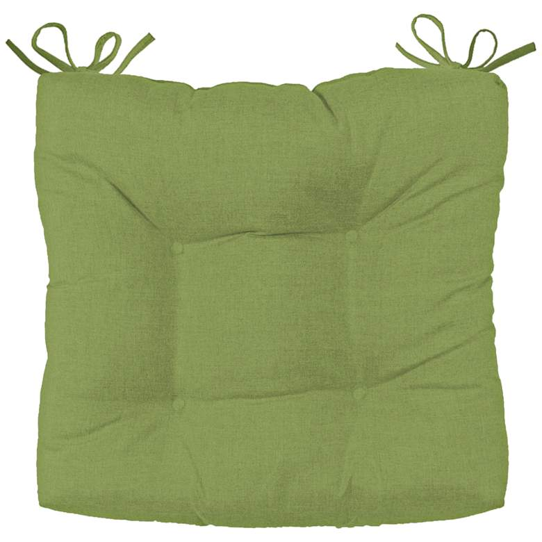 "Palmdale Canvas Ginkgo 19"" Wide Tufted Chair Cushion"
