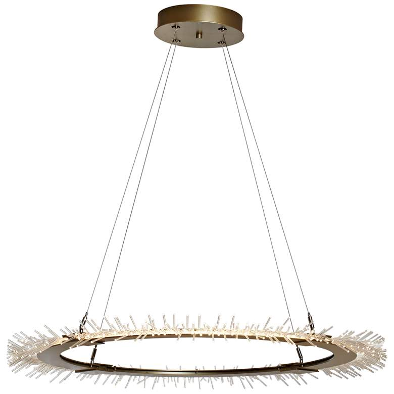 "Anemone Circular 37"" Wide Gold LED Pendant Light"