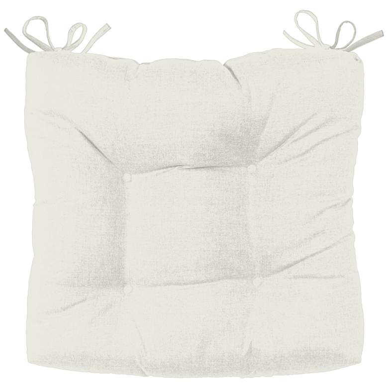 "Palmdale Canvas Natural 19"" Wide Tufted Chair Cushion"