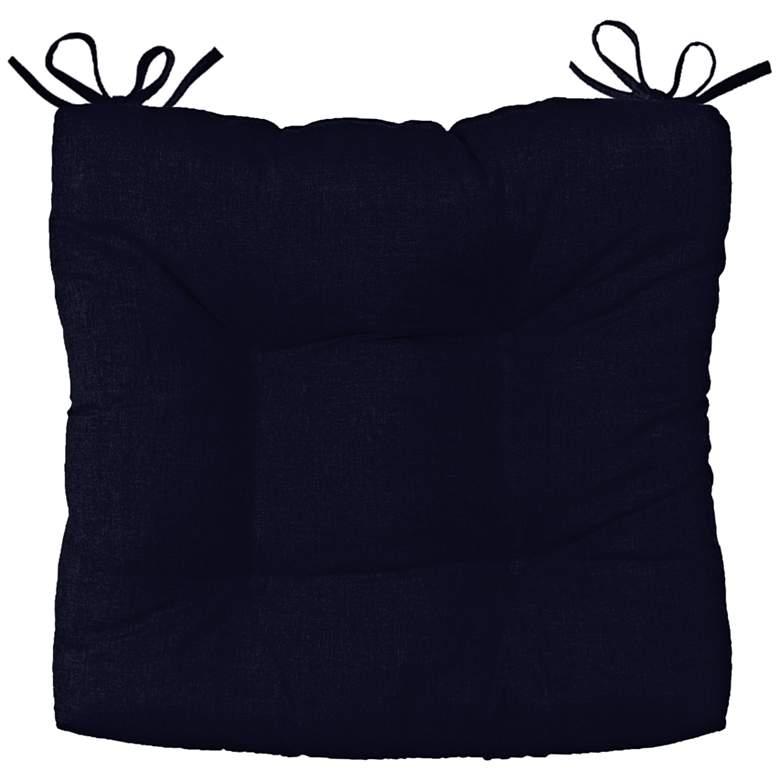 "Sunbrella Palmdale Canvas Navy 19"" Wide Tufted Chair Cushion"