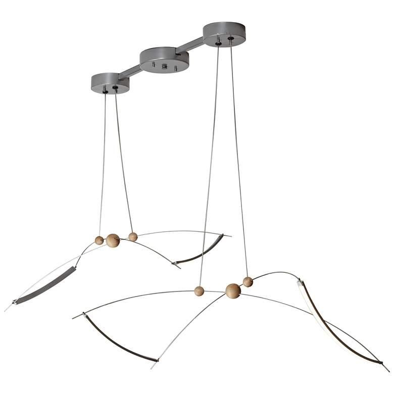 "Copernicus 50 1/2"" Wide Silver LED Pendant Light"