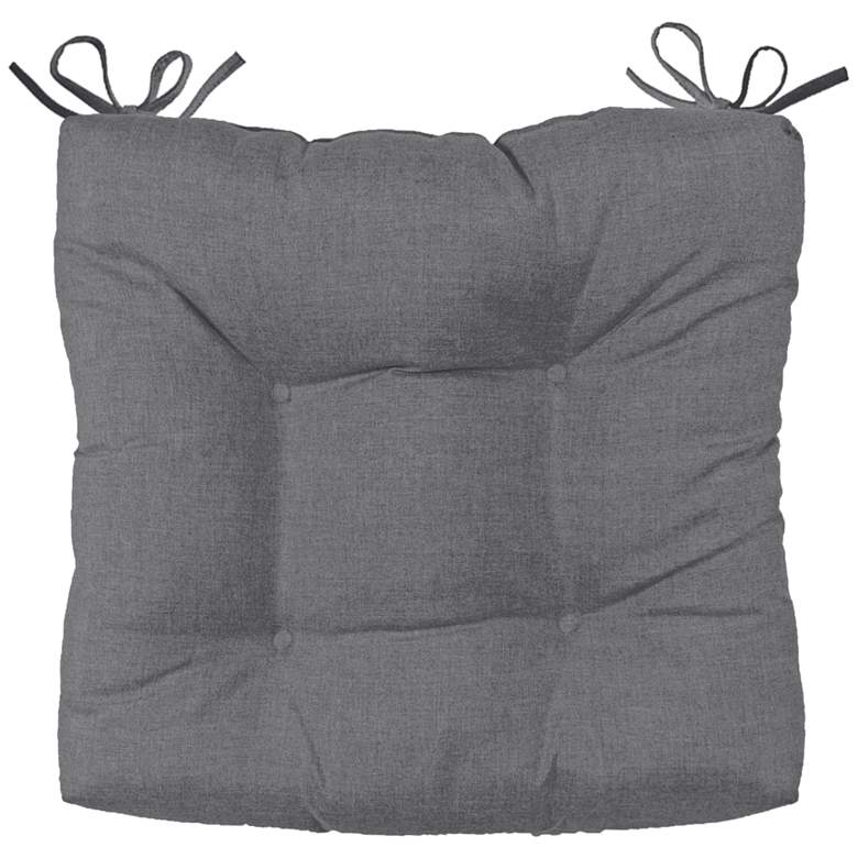 "Sunbrella Palmdale Cast Slate 19"" Wide Tufted Chair Cushion"