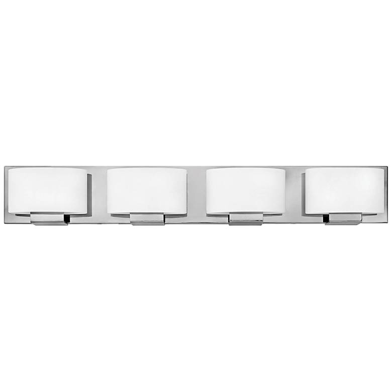 "Hinkley Mila 32 1/4"" Wide Chrome 4-Light LED Bath Light"