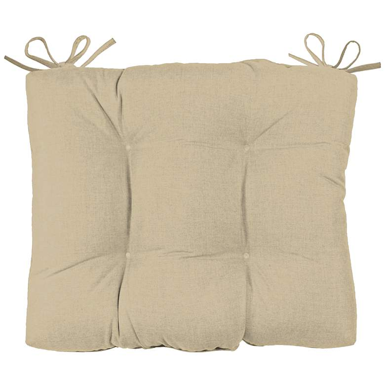 "Canvas Antique Beige 24 1/2"" Wide Tufted Chair Back Cushion"