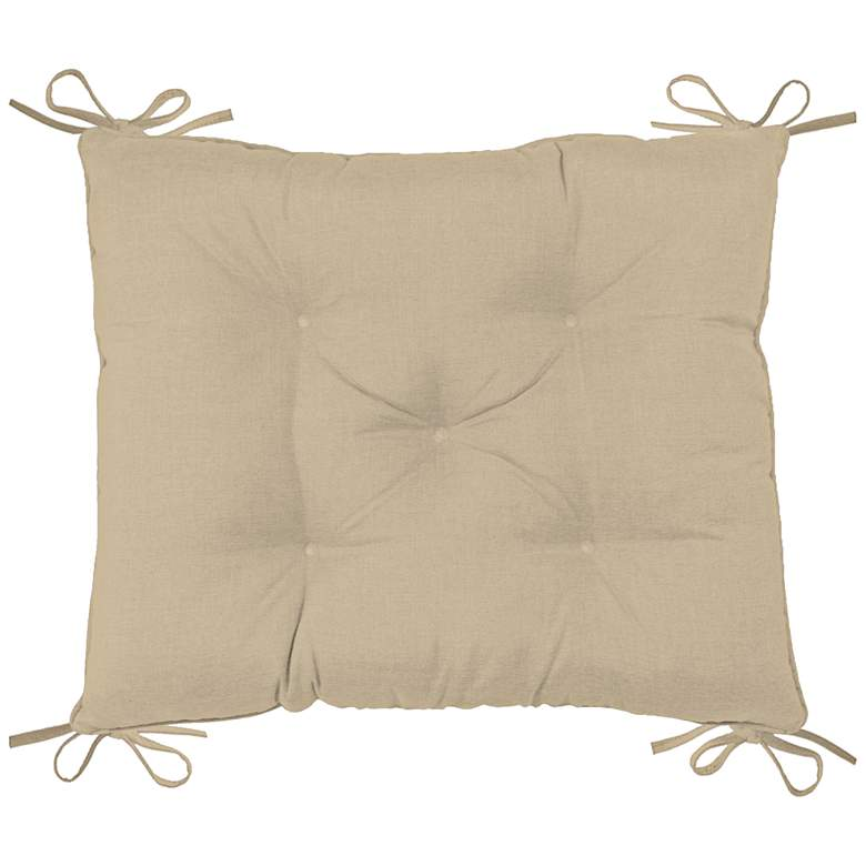 """Palmdale Canvas Antique Beige 24""""W Tufted Chair Back Cushion"""