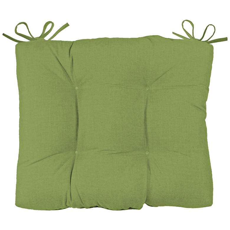 "Palmdale Canvas Ginkgo 24 1/2""W Tufted Chair Back Cushion"